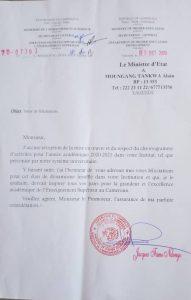L'IFPI reçoit les félicitations du Ministre de l'Enseignement Supérieur